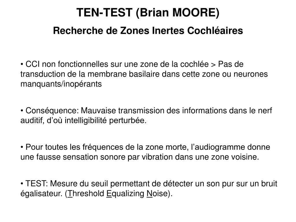 TEN-TEST (Brian MOORE)