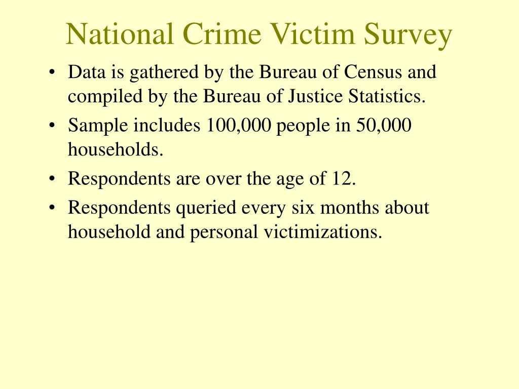 National Crime Victim Survey