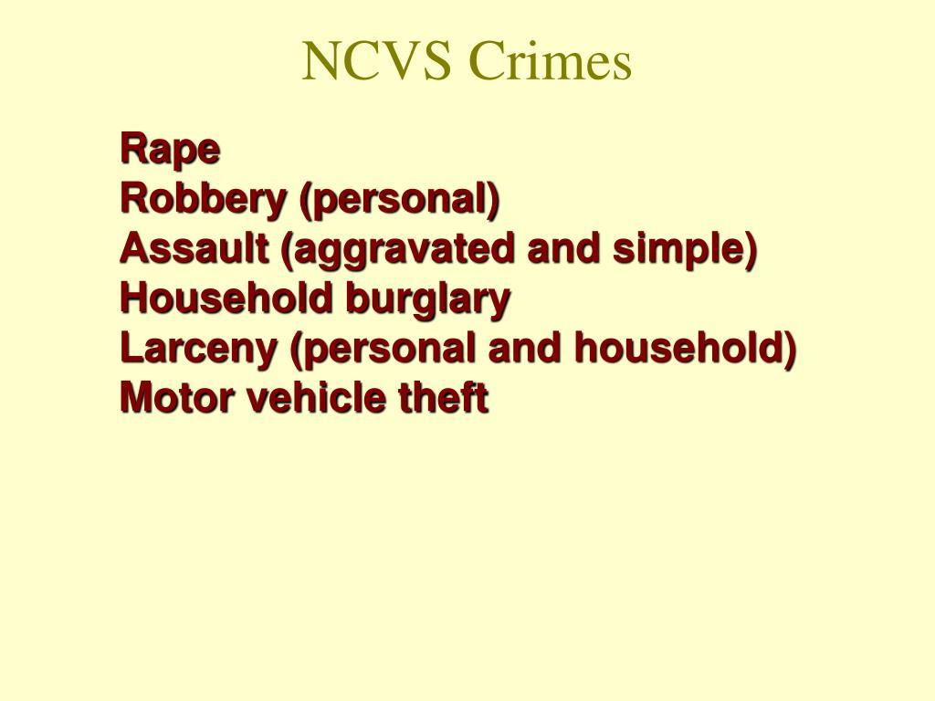 NCVS Crimes
