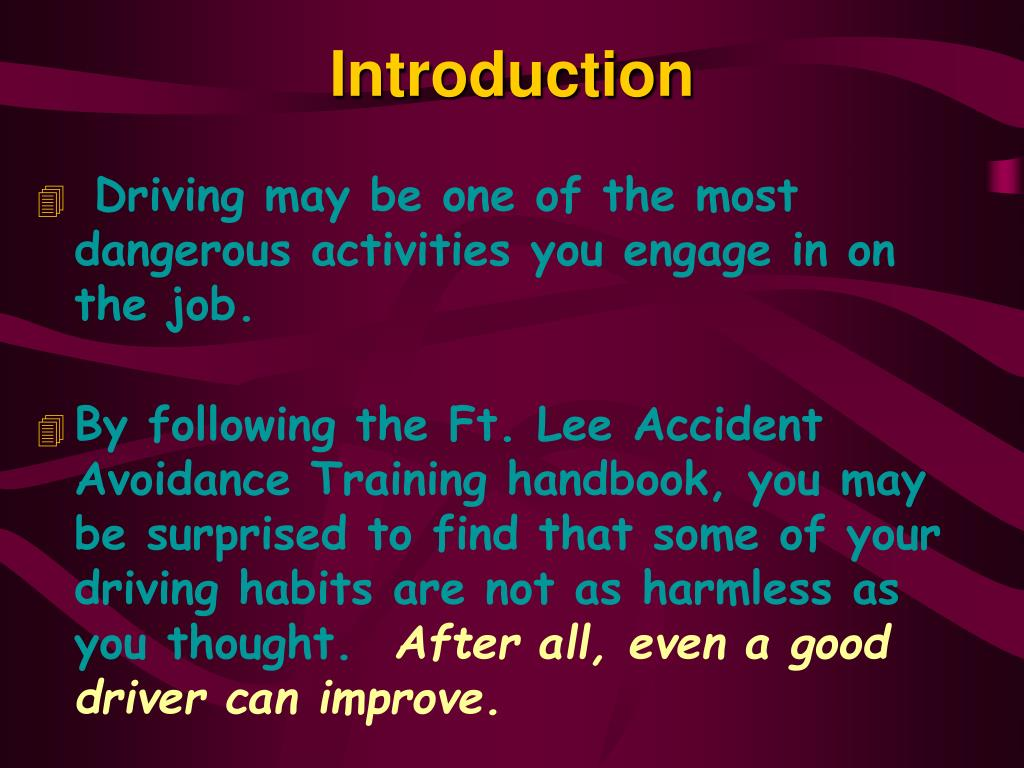 accident avoidance course Army accident avoidance course 5844 likes 5 talking about this readiness  through training.