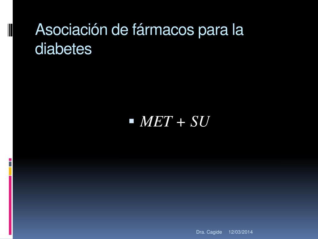 Asociación de fármacos para la diabetes