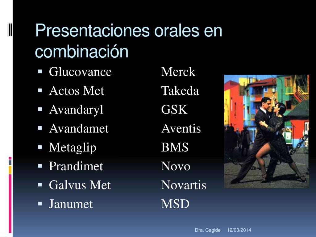 Presentaciones orales en combinación
