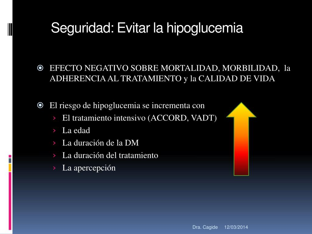 Seguridad: Evitar la hipoglucemia