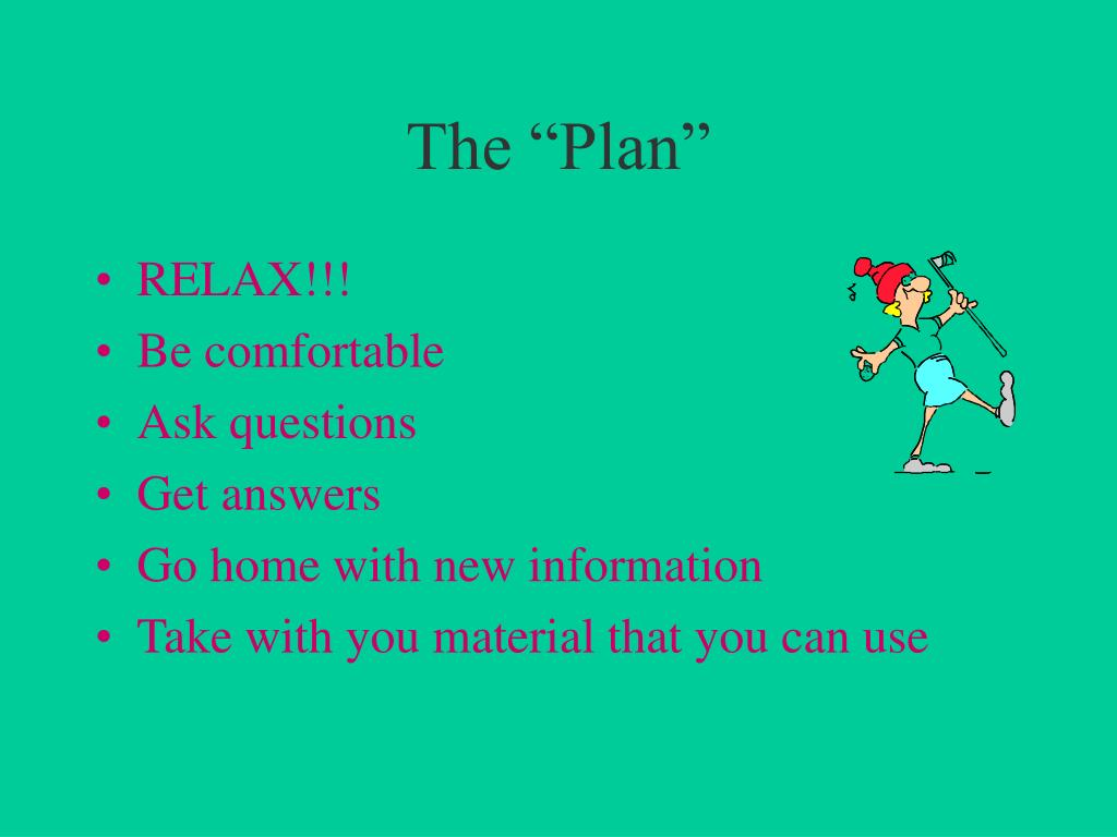"The ""Plan"""