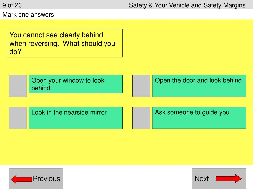 9 of 20					Safety & Your Vehicle and Safety Margins