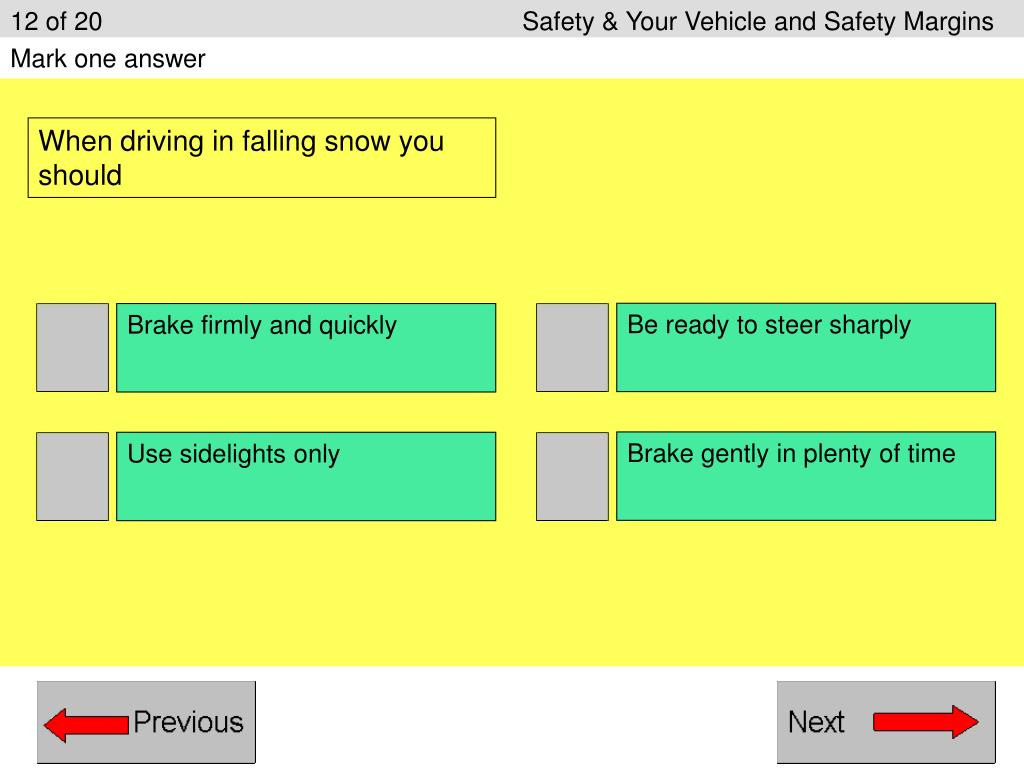 12 of 20					Safety & Your Vehicle and Safety Margins