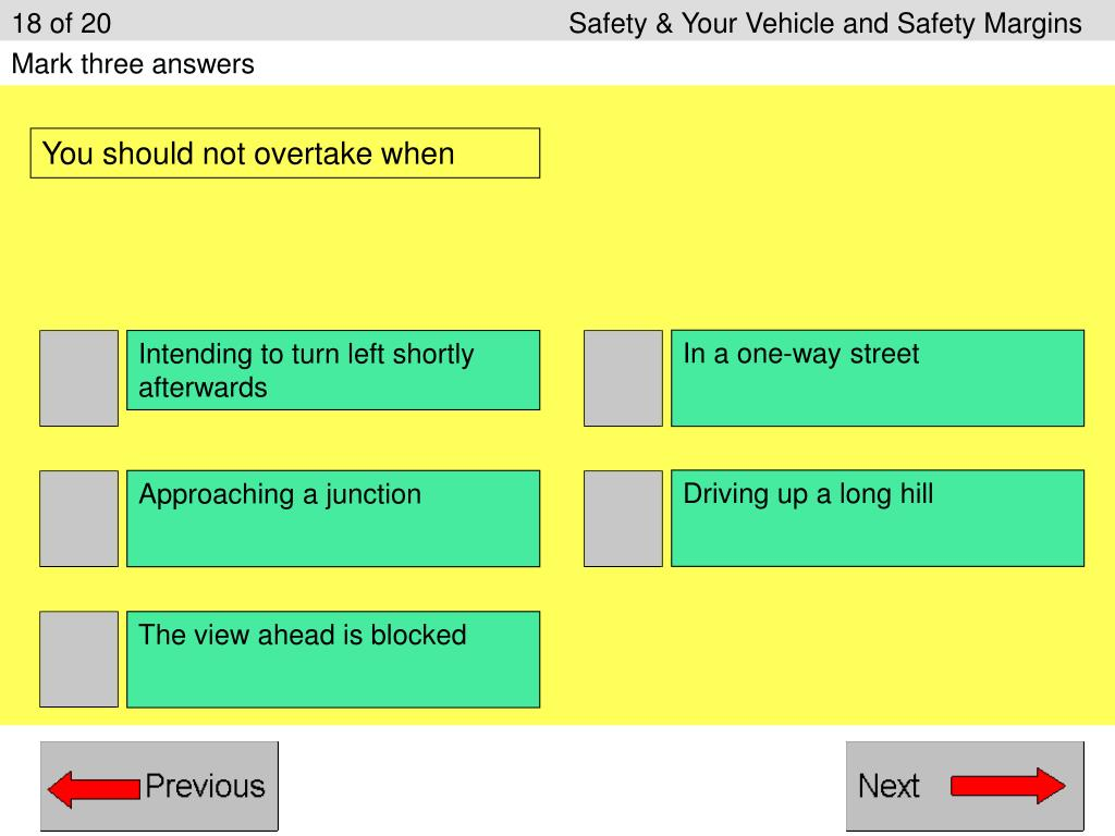 18 of 20					Safety & Your Vehicle and Safety Margins