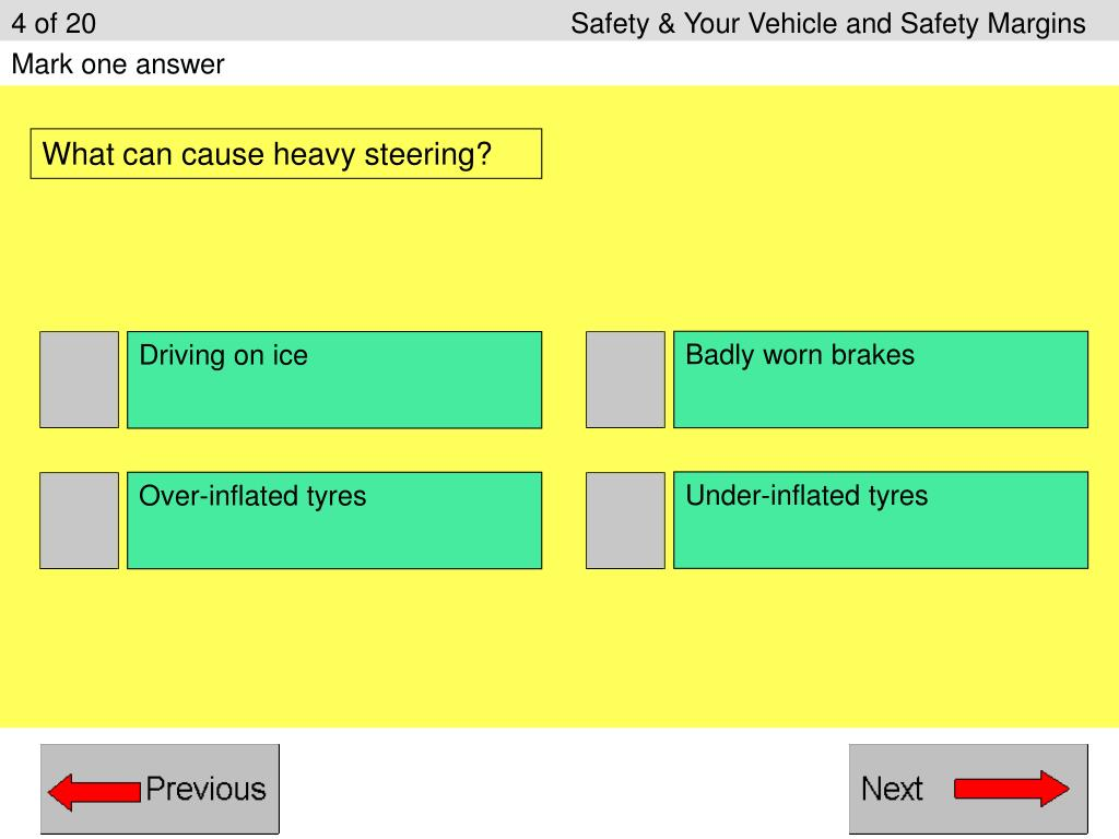 4 of 20					Safety & Your Vehicle and Safety Margins