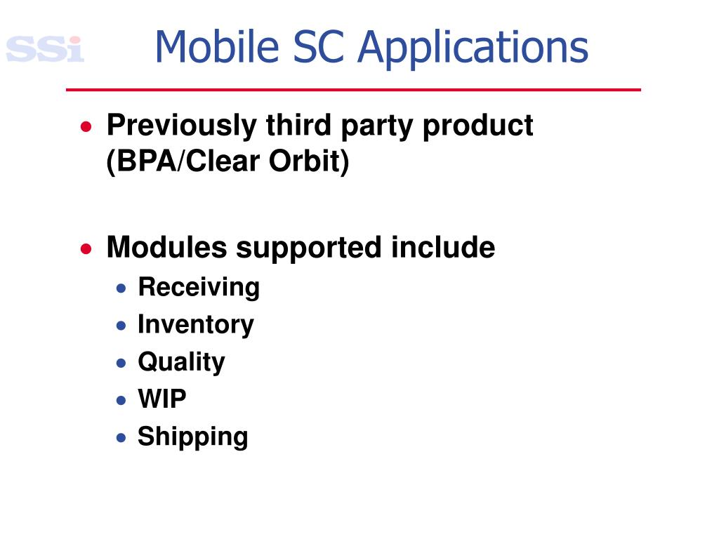 Mobile SC Applications