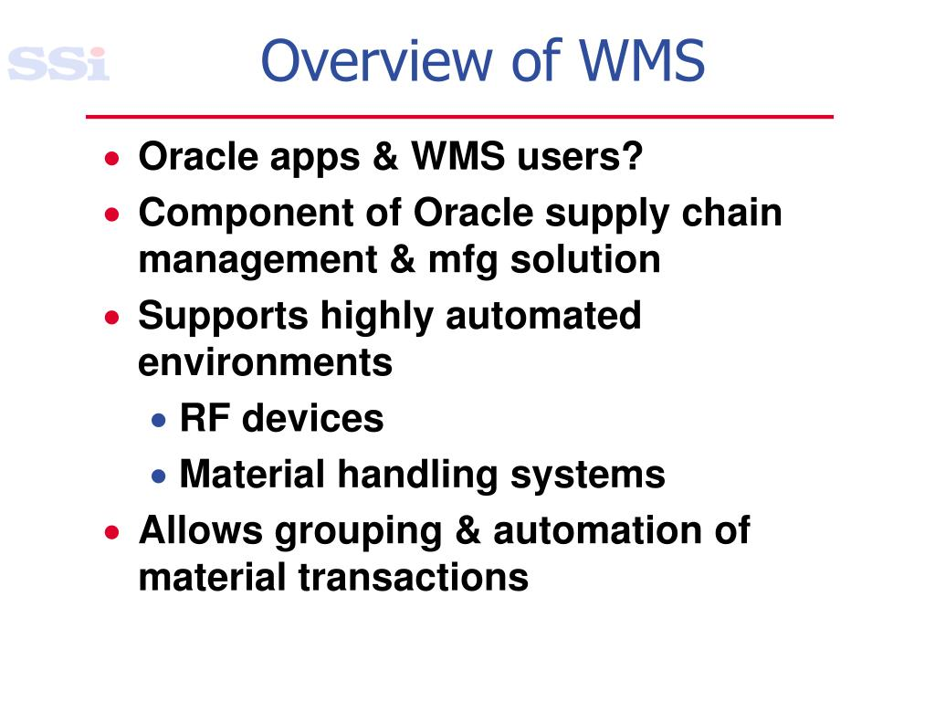 Overview of WMS