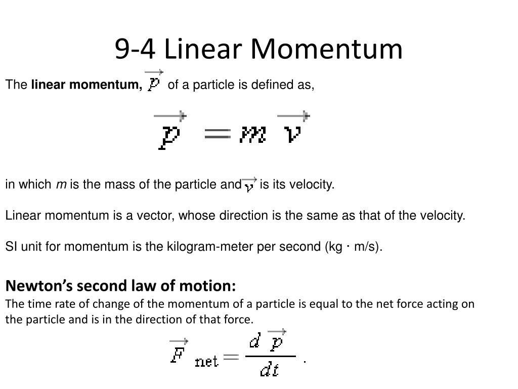 9 4 linear momentum
