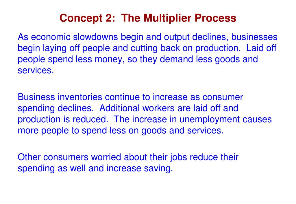 Concept 2:  The Multiplier Process