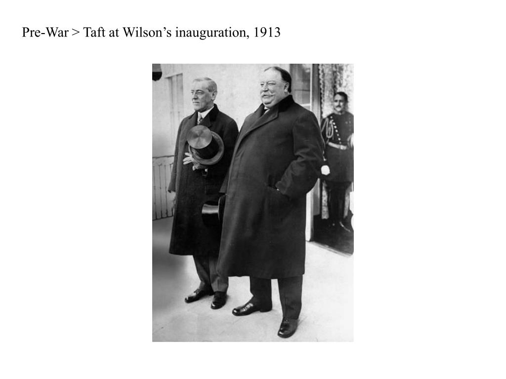 Pre-War > Taft at Wilson's inauguration, 1913