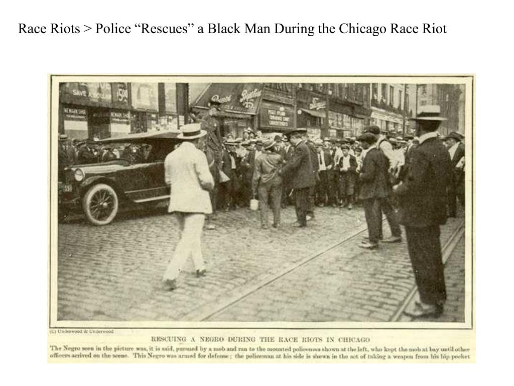 "Race Riots > Police ""Rescues"" a Black Man During the Chicago Race Riot"