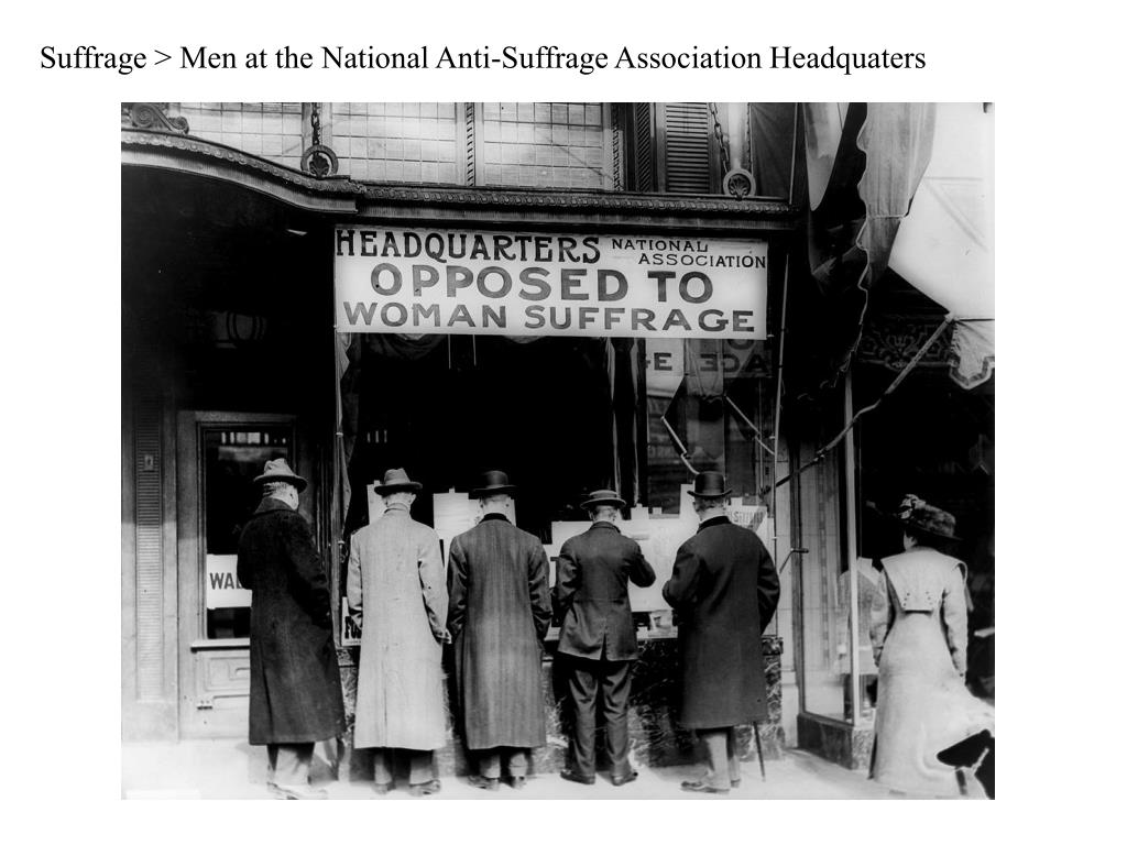 Suffrage > Men at the National Anti-Suffrage Association Headquaters