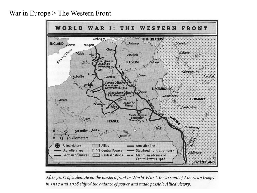 War in Europe > The Western Front