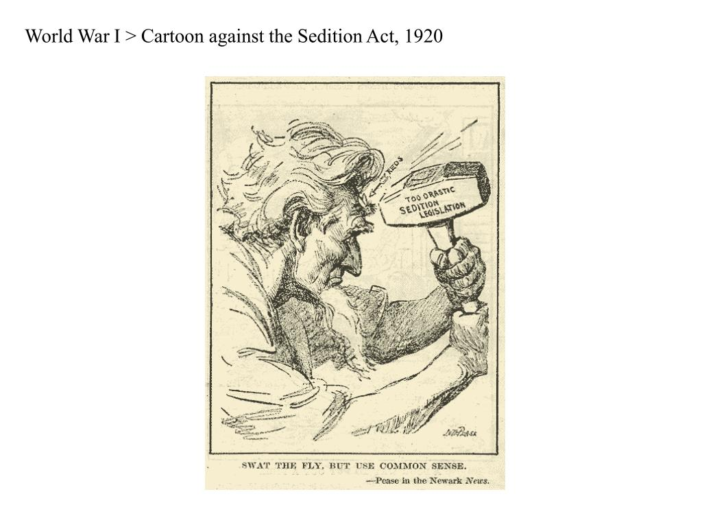 World War I > Cartoon against the Sedition Act, 1920