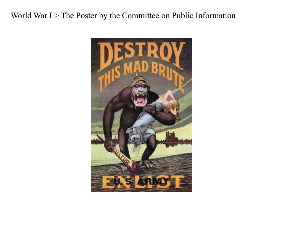 World War I > The Poster by the Committee on Public Information