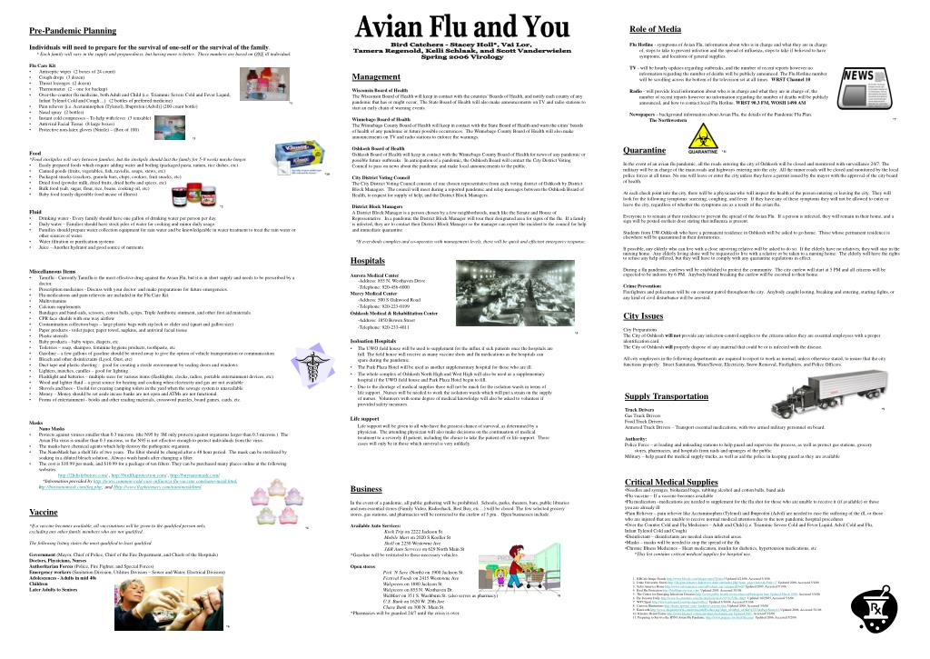 Avian Flu and You