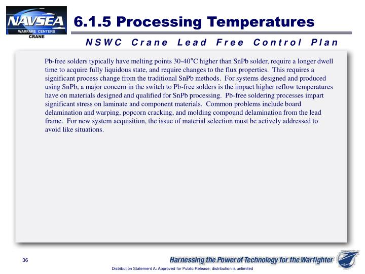 6.1.5 Processing Temperatures