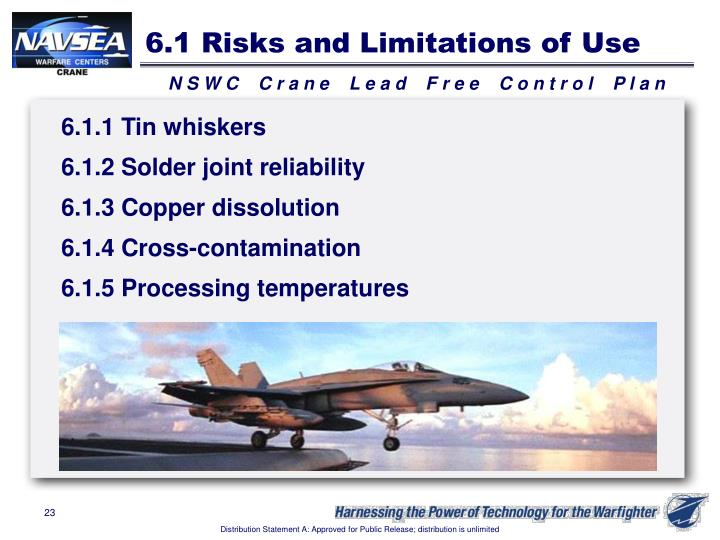 6.1 Risks and Limitations of Use