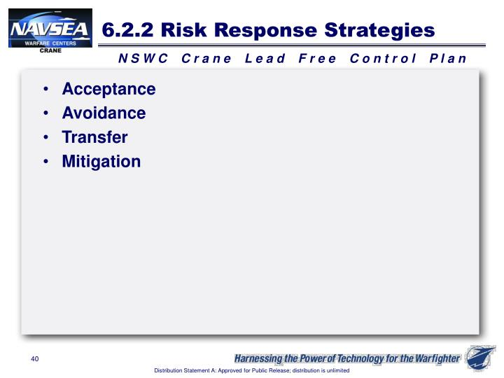 6.2.2 Risk Response Strategies