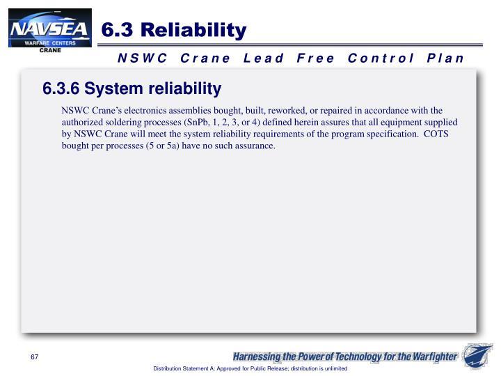 6.3 Reliability