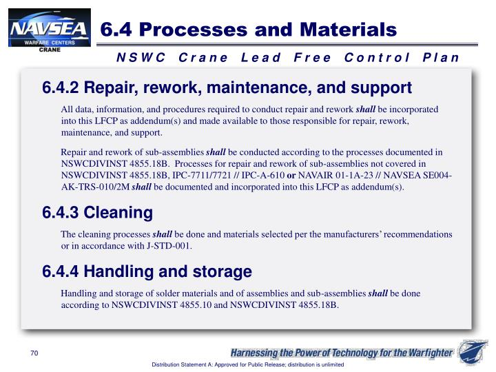 6.4 Processes and Materials