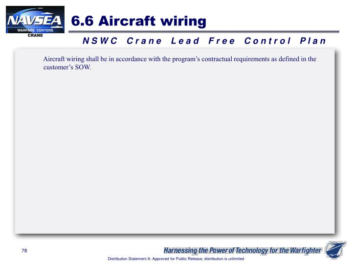 6.6 Aircraft wiring