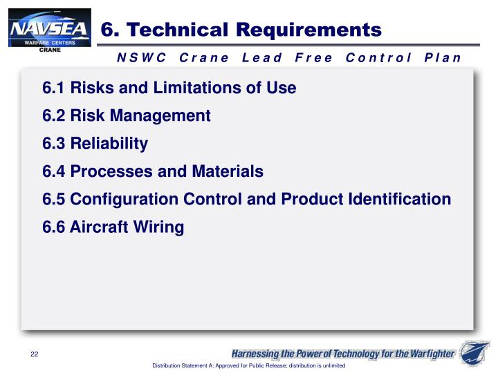 6. Technical Requirements