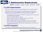 7 administrative requirements2