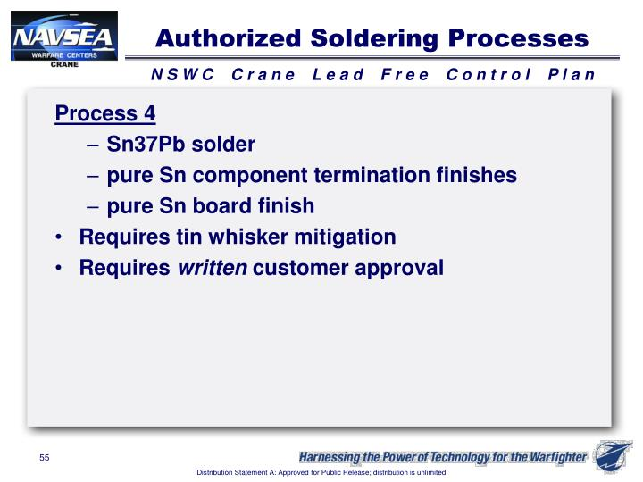 Authorized Soldering Processes