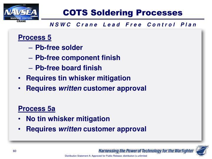 COTS Soldering Processes