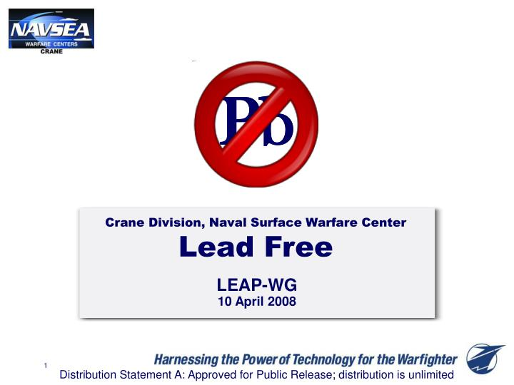 Crane division naval surface warfare center lead free