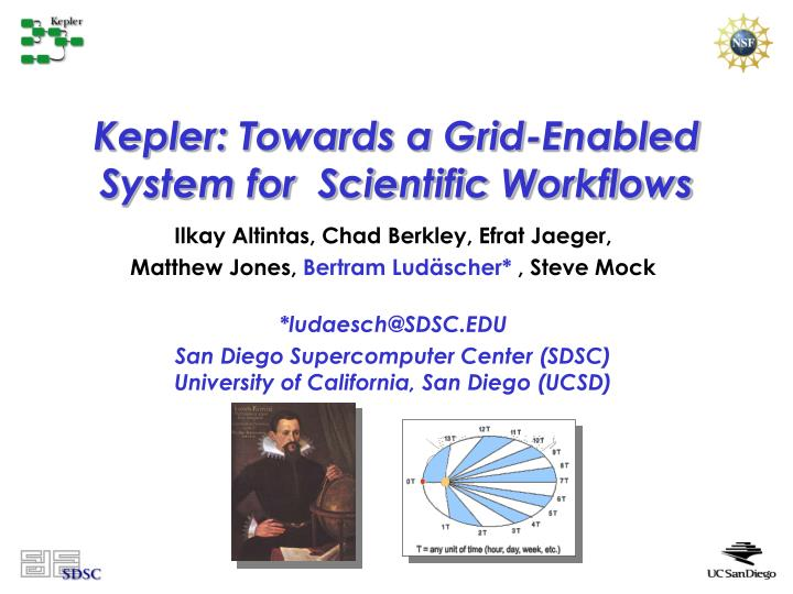Kepler towards a grid enabled system for scientific workflows