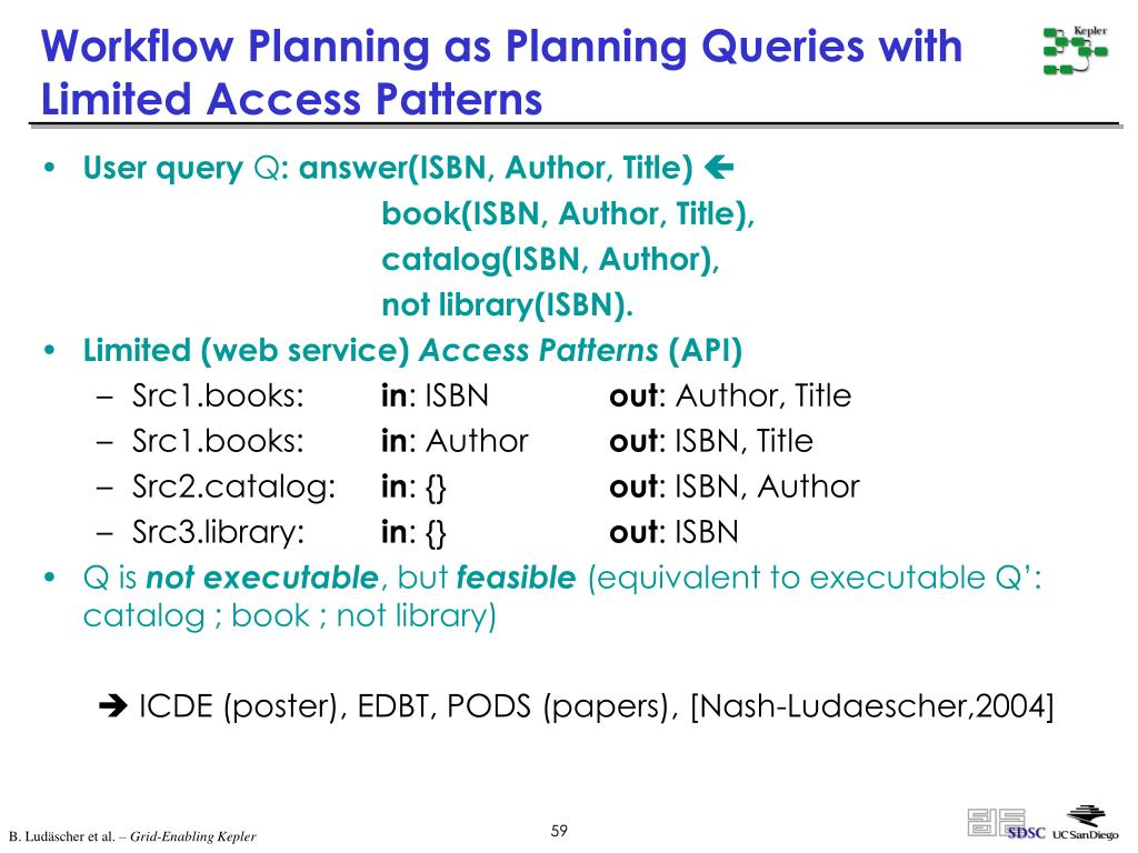 Workflow Planning as Planning Queries with Limited Access Patterns