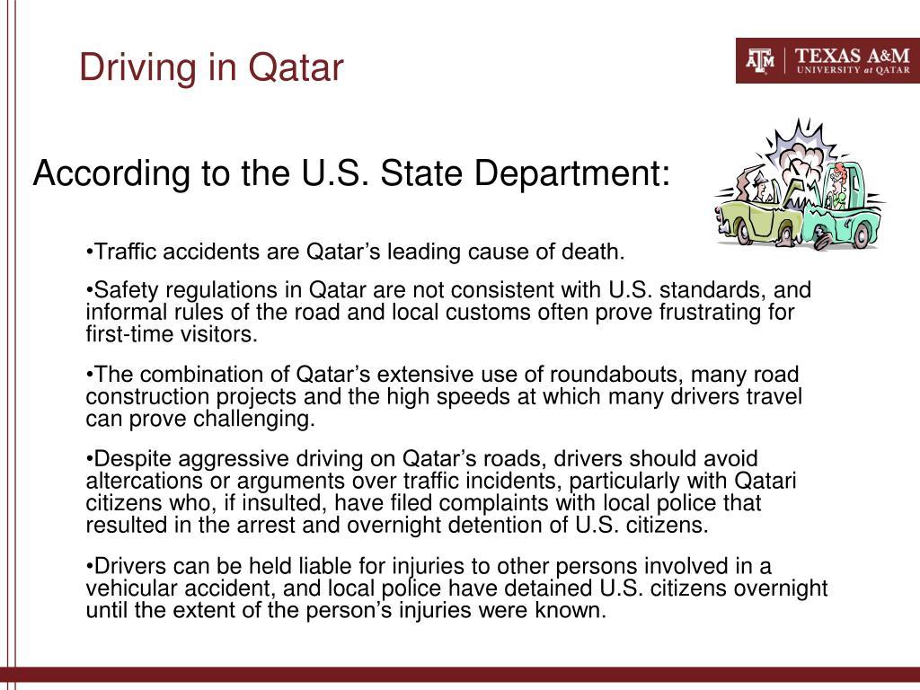 Driving in Qatar