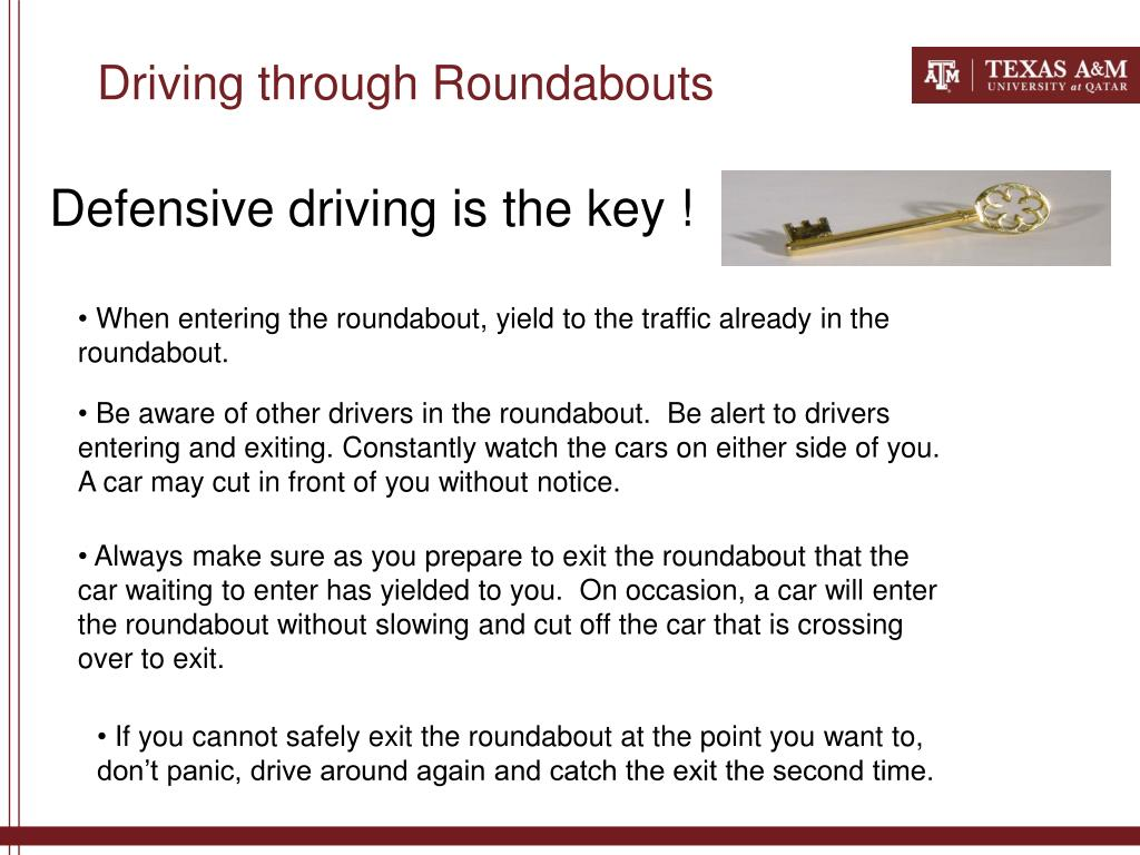 Driving through Roundabouts
