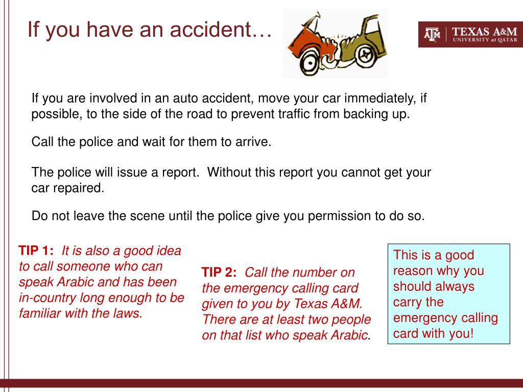 If you have an accident…