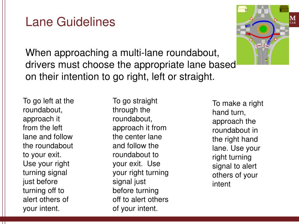 Lane Guidelines