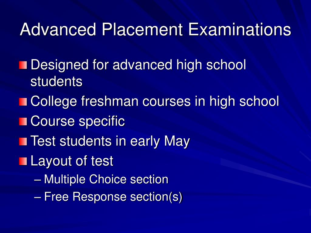 Advanced Placement Examinations