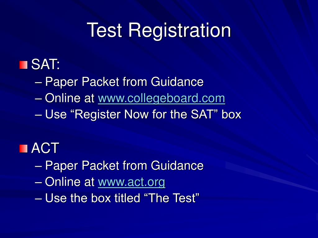 Test Registration