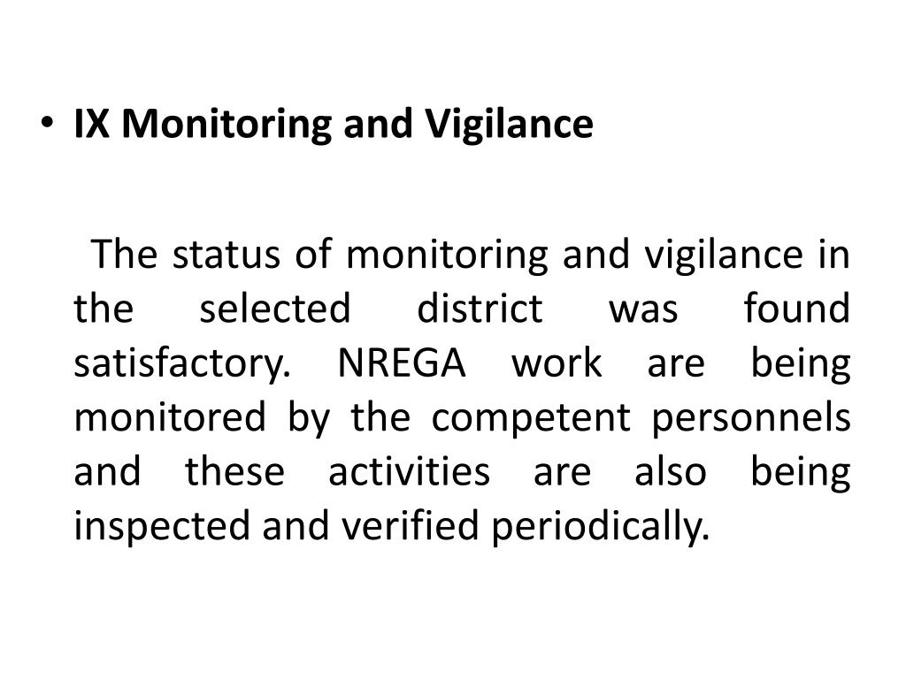 IX Monitoring and Vigilance
