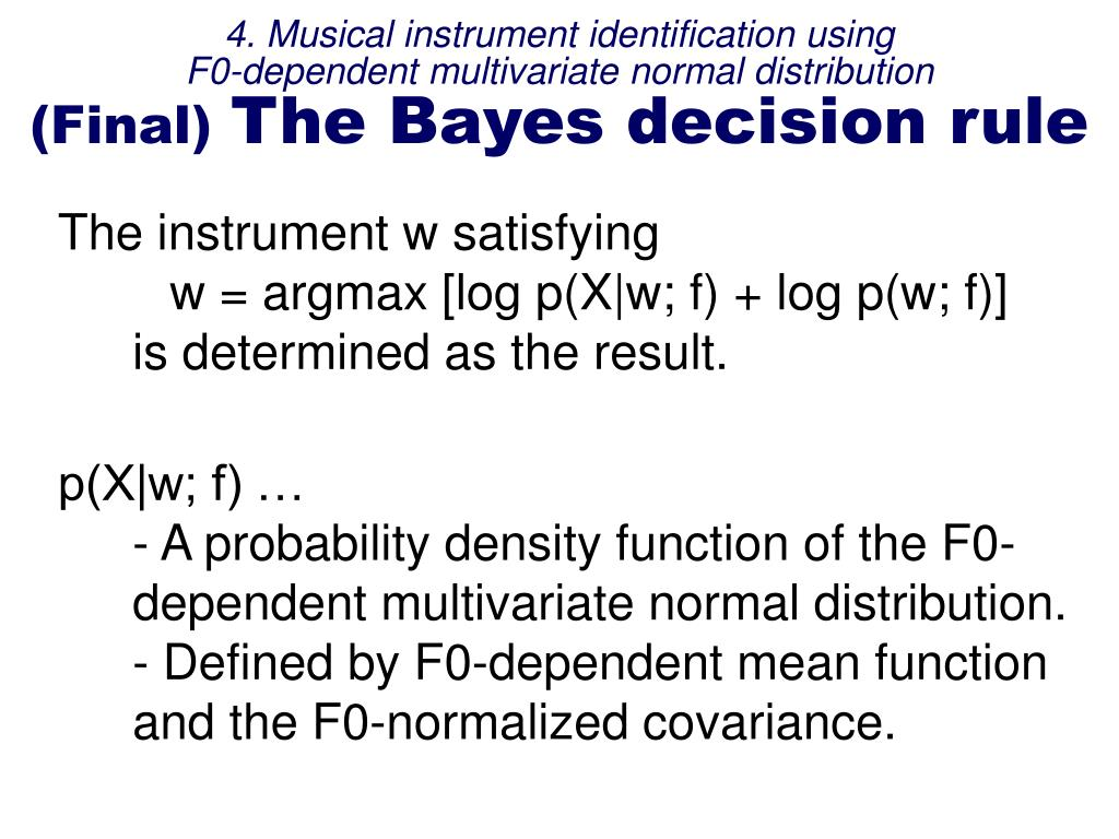 4. Musical instrument identification using