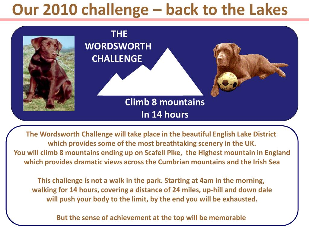 Our 2010 challenge – back to the Lakes