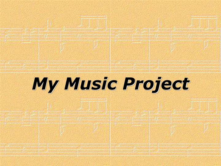 My Music Project