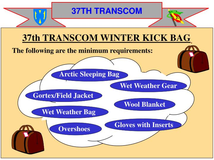 37th TRANSCOM WINTER KICK BAG