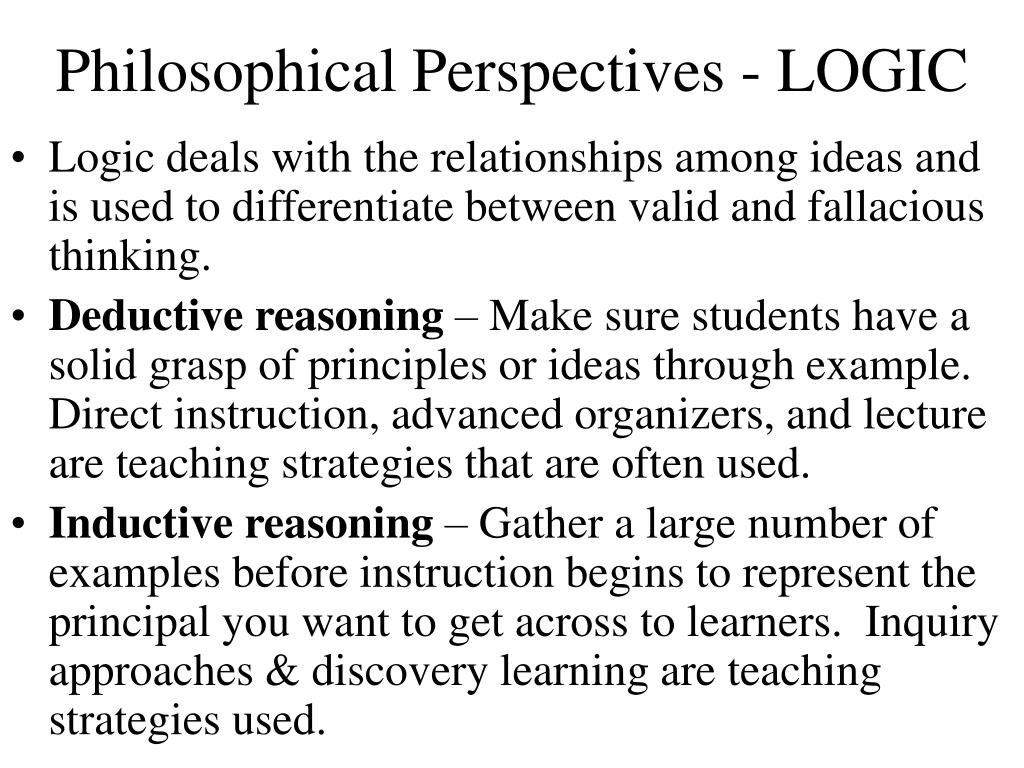 Philosophical Perspectives - LOGIC