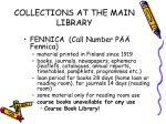 collections at the main library