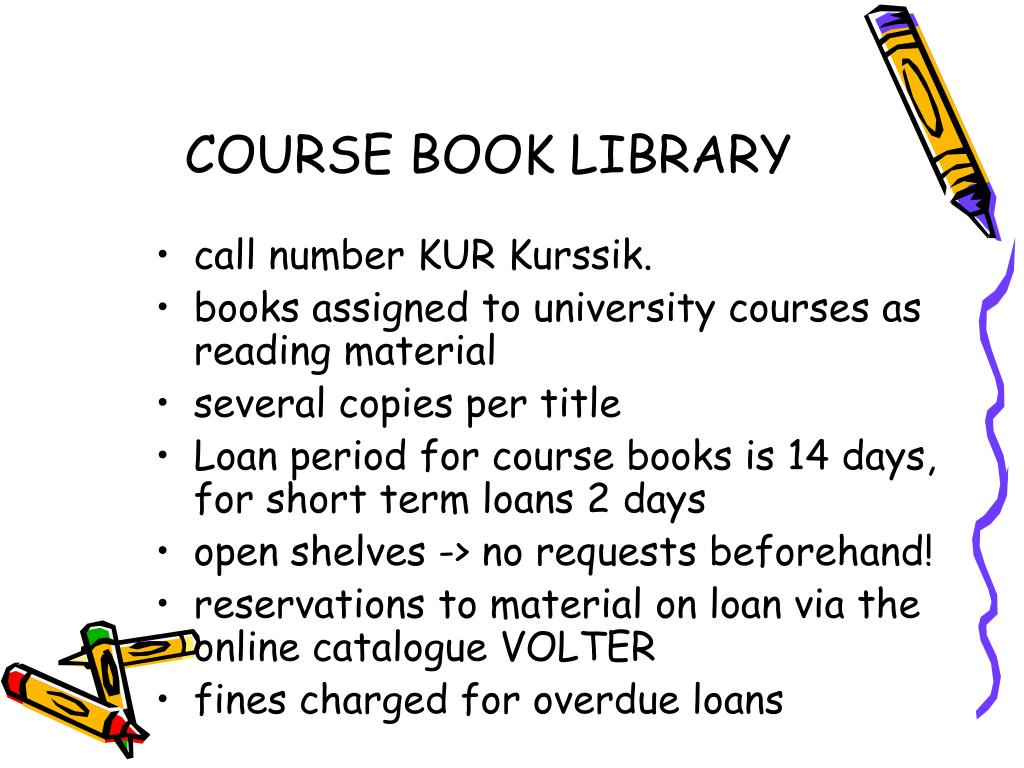 COURSE BOOK LIBRARY